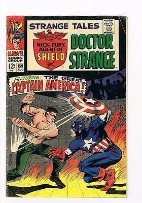 Strange Tales # 159 Nick Fury origin retold ! Cap America ! grade 4.0 hot book !