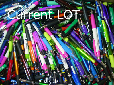 Misprint Pens  Nice writing! Clip On SOFT GRIP Retractable BULK B LOT of 100