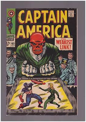 Captain America # 103  The Weakest Link ! grade 7.5 movie scarce hot book !!