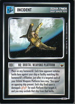 Star Trek Ccg Trouble With Tribbles Rare Card Hq: Orbital Weapons Platform