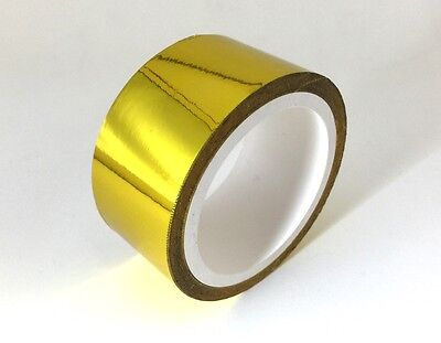 """Self Adhesive Reflective Gold High Temperature Heat Wrap Tape 30 Feet X 2"""" Wide"""