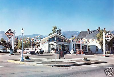 """DUGAN'S SKELLY GAS""""SHOWCASE""""STATION COLORADO SPRINGS 50's CARS now a vacant lot"""