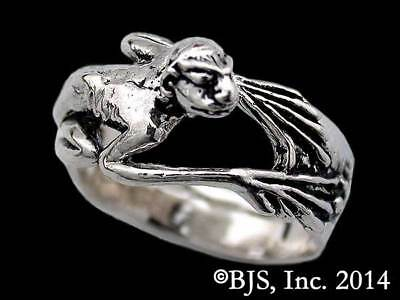 Sterling Silver Gollum Creature Ring, Smeagol, Lord of the Rings Jewelry, New