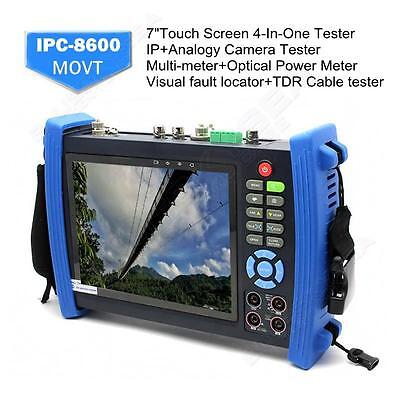 "Portable IPC-8600MOVT 7"" Touch HD IP CAMERA DISPLAY TDR PTZ POE TESTER DC Output"