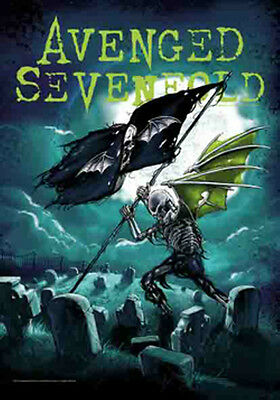 "AVENGED SEVENFOLD ""CEMETARY"" Fabric Poster 30""X40"" Poster Flag NEW"