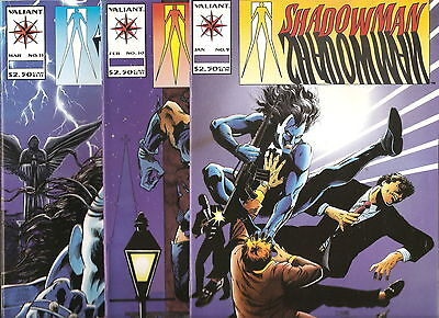Valiant Comics   Shadowman   Lot Of 3  # 9, 10, 11