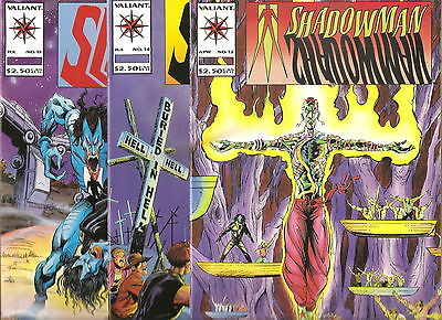 Valiant Comics   Shadowman   Lot Of 3  # 12, 14, 15