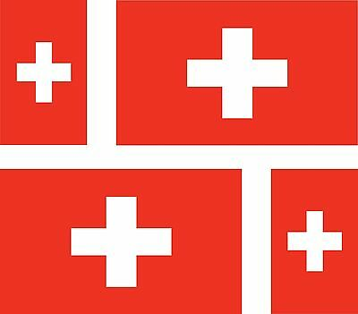 Set of 4x sticker vinyl car bumper decal outdoor swiss world flag switzerland