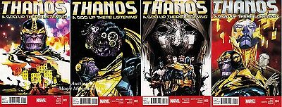 THANOS A God Up There Listening (4) Issue SET #1 2 3 4 MARVEL NOW 2014 1st print