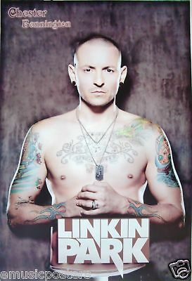 "Linkin Park ""chester Bennington Without Shirt Showing Tattoos"" Poster From Asia"
