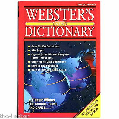 dictionary Webster's soft cover reference book school or work 320 pg easy read