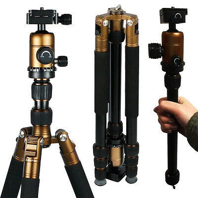 Professional Tripod Monopod w/Ball Head For DSLR Camera Travel Photography Stand