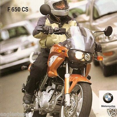 Motorcycle Brochure - BMW - F 650 CS - 2002 (DC198)