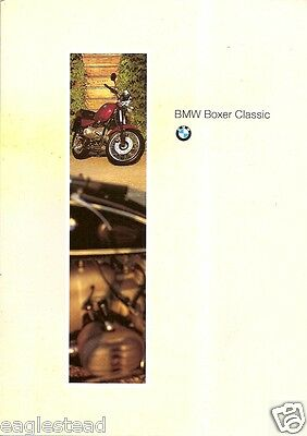 Motorcycle Brochure - BMW - Boxer Classic - c1994 (DC196)