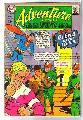 ADVENTURE COMICS #359 The End of the Legion! DC Comic Book ~ VG-