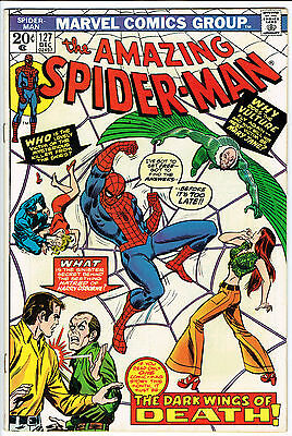 AMAZING SPIDERMAN ISSUE 127 PRODUCED BY MARVEL COMICS vfn
