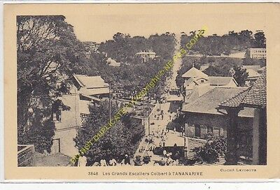 CPA MADAGASCAR TANANARIVE Grands Escaliers Colbert Edit LEYGOUTE ca1932