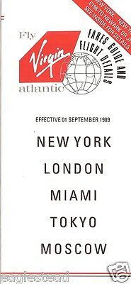 Airline Timetable - Virgin Atlantic - 01/09/89