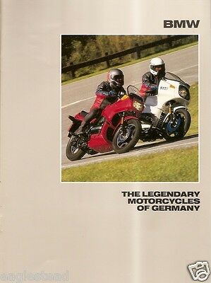 Motorcycle Brochure - BMW - Product Line Overview - 1988 (DC235)
