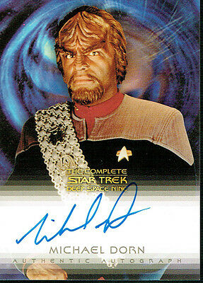The Complete Star Trek Deep Space Autograph Card A3 Michael Dorn As Worf