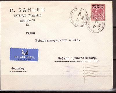 Morocco Agencies, 1936 Kgv Cover From Tetuan To Germany, Commercial