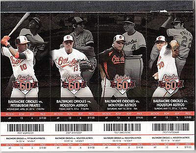 2014 BALTIMORE ORIOLES PICK YOUR GAME 1ST half TICKET STUB MANY DATES