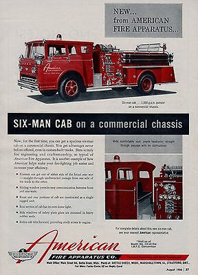 American Six Man Cab Fire Engine     1966  Ad