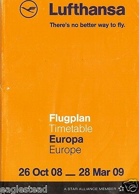Airline Timetable - Lufthansa - 26/10/08 - Europe edition - S