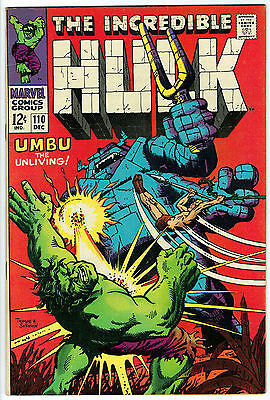 THE INCREDIBLE HULK ISSUE 110 BY MARVEL COMICS vfn-