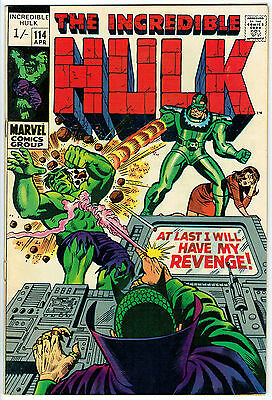 THE INCREDIBLE HULK ISSUE 114 PRODUCED BY MARVEL COMICS vfn+
