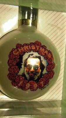 JERRY GARCIA GRATEFUL DEAD VINTAGE 1997 XMAS ORNAMENT Roses greatful 90s art new