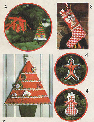 Vintage Pattern Christmas Decorations Stocking Cardholder Ornaments Wall Hanging