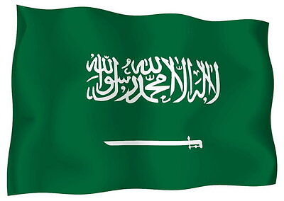 Sticker decal vinyl decals national flag car ensign bumper saudi arabia