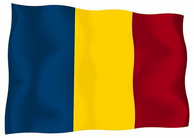 Sticker decal vinyl decals national flag car ensign bumper romania