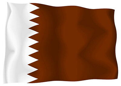 Sticker decal vinyl decals national flag car ensign bumper qatar katar