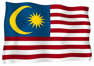 Sticker decal vinyl decals national flag car ensign bumper malaysia