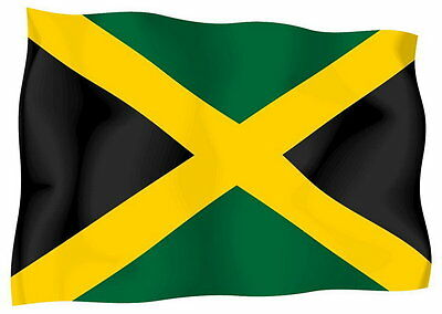 Sticker decal vinyl decals national flag car ensign bumper jamaica jamaican