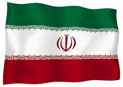 Sticker decal vinyl decals national flag car ensign bumper iran iranian