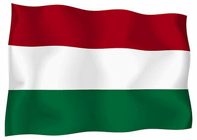 Sticker decal vinyl decals national flag car ensign bumper hungary hungarian