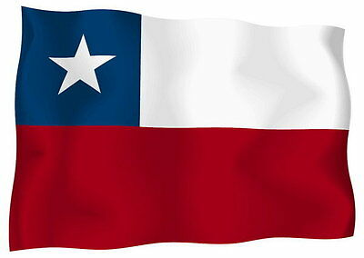 Sticker decal vinyl decals national flag car ensign bumper chile