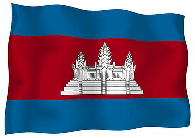 Sticker decal vinyl decals national flag car ensign bumper cambodia