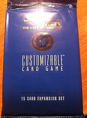 Star Trek Ccg White Border 1995 Beta Premiere Sealed Booster Pack Of 15 Cards