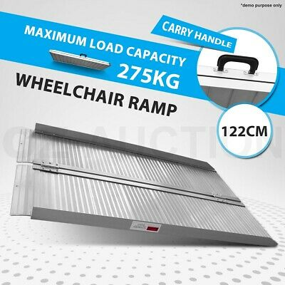 1.2M Multi-Purpose Aluminium Wheelchair Ramp Foldable Folding Loading Ramps 4FT