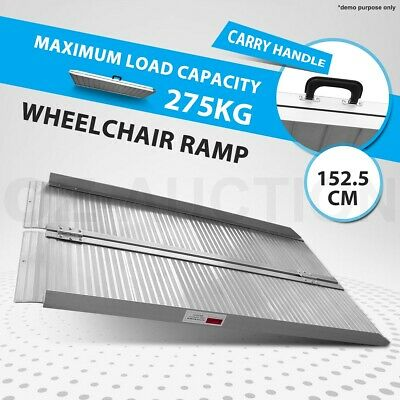 Aluminium Wheelchair Ramp Scooter Van Portable Folding Loading Access 1.5M 275KG