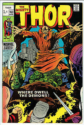 THE MIGHTY THOR ISSUE NUMBER 163 BY MARVEL COMICS vfn