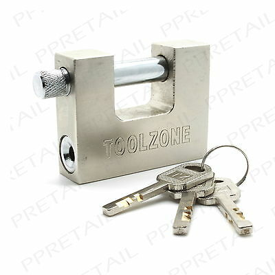 LARGE HIGH SECURITY SHUTTER PADLOCK Heavy Duty Lock Secure/Steel/Strong ANTI SAW