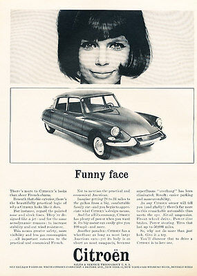 1963 Citroen DS DS21 Funny Face Original Car Print Advertisement Ad - PE8