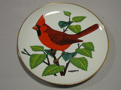 "Wagner's Cardinal Collector's Porcelain Plate Wagner Bros Seed ""The Cardinal"""