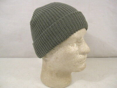 US Army Cold Weather Knit ACU Foliage Green Watch Cap - Size Med/Lg - MINT