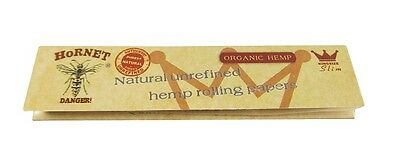 Hornet Organic Hemp King Size Unrefined Rolling Papers Smoking Cigarette